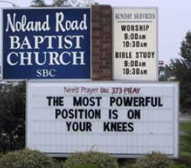 on-your-knees-church-sign