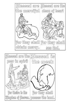 TheBeatitudes MiniColoringBook byElaine SAMPLE